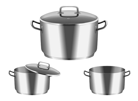 cooker: Vector image of  pan with  cover Illustration