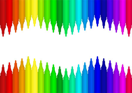pen and marker: Vector image colour marker background