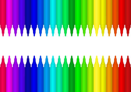 clip art draw: Vector image colour marker background