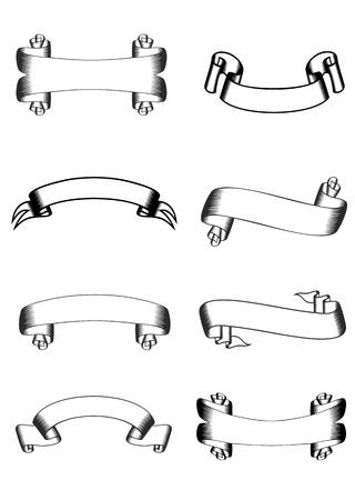 image of various ribbons Stock Vector - 12889347
