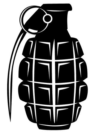 terrorists: immagine di una granata manuale dell'esercito Vettoriali