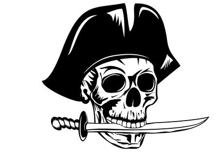 murderer: Vecctor image pirate with dagger Illustration