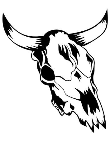 Vector illustration skull bull