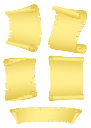 Vector image of old rolls of  paper with torn edges Stock Vector - 13424849