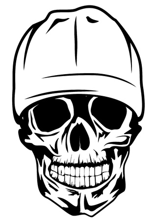 Vector image skull in hat Vector
