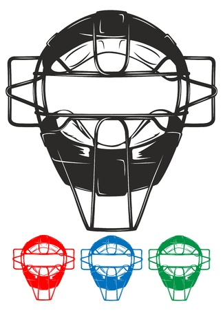 The image of protective mask for baseball Stock Vector - 13613795