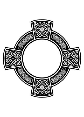 The image Celtic cross with framework Stock Illustratie