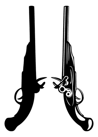 The vector image of an ancient pistol Stock Vector - 13751319