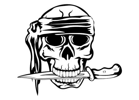 image pirate with dagger Stock Illustratie