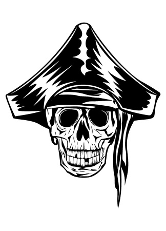 The vector image of piracy skull Stock Vector - 14255271