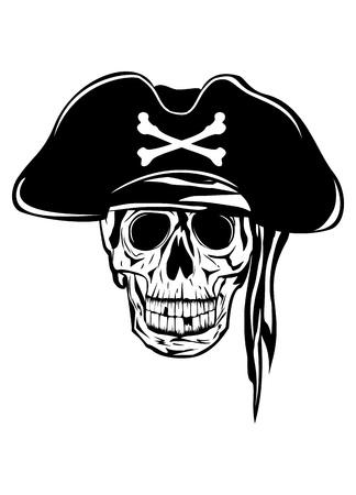 calavera pirata: La imagen del cráneo piratería Vectores