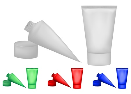 cosmetic bottle:  illustration bottle cream set
