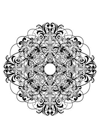 Vector image ornament ceiling rose Stock Vector - 14776041