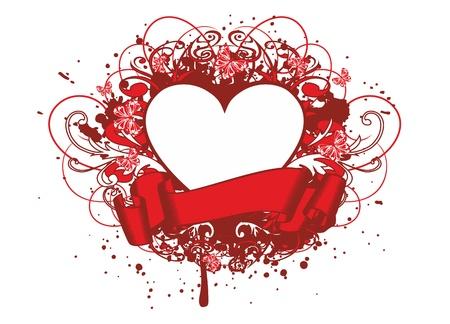 engel tattoo: Vector illustration Muster und Herzen
