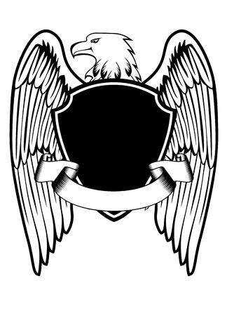 aguilas: ilustración de un águila y comida