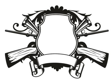 image board gekruiste geweren en patronen