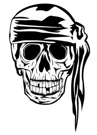 sabre: The vector image of piracy skull Illustration