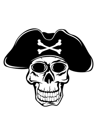 skull icon: The vector image of piracy skull Illustration