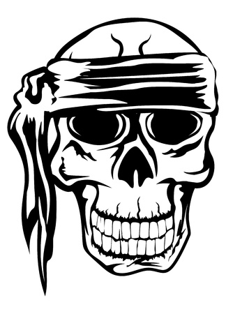 The image of piracy skull Stock Vector - 16333025