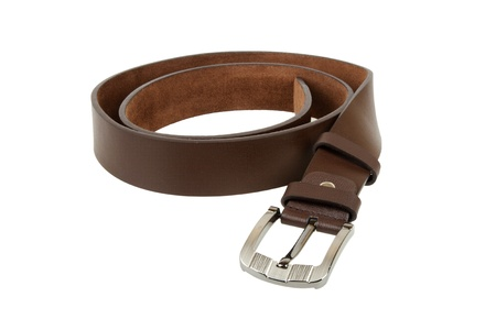 Man's belt on white background Stock Photo - 16333018