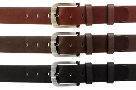 Man's belt on white background Stock Photo - 16333028