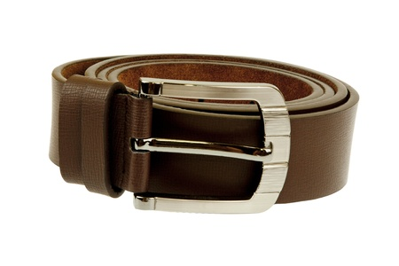 Man's belt on white background Stock Photo - 16333026