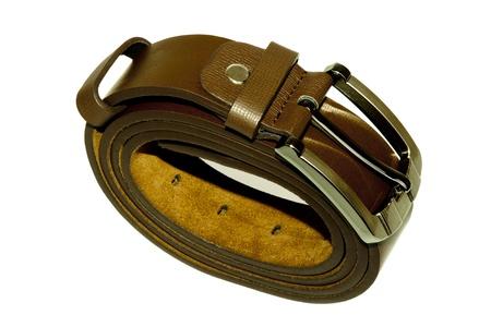 Man's belt on white background Stock Photo - 16333027