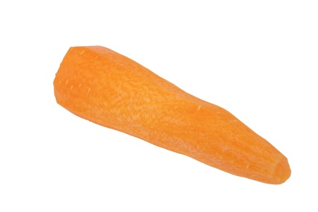 Peeled carrot on white background photo