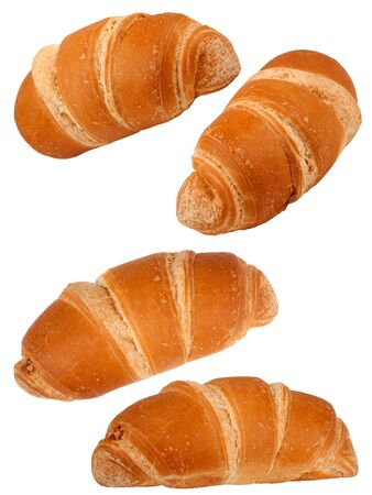 bread rolls: Croissant on white background