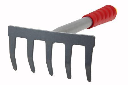 rake: Rake close up isolated on white background Stock Photo