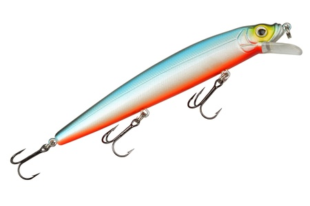 Fishing tackle wobbler isolated on white background photo