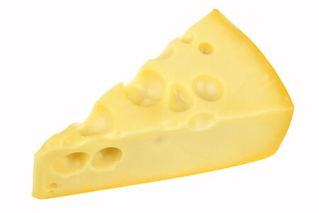 chunk: Cheese piece on white background