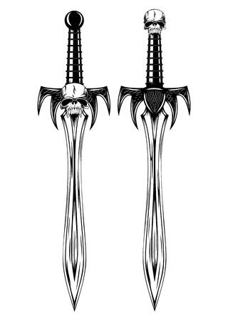 Vector illustration fantasy swords set
