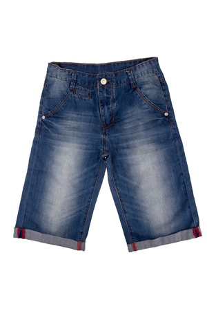 New mans dark blue jeans bridges изолированниы on a white background photo