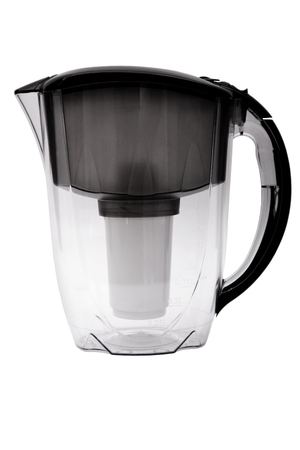 purify: Pitcher with filter for water cleaning isolated on white