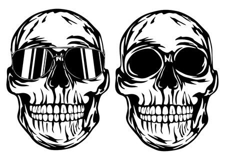 Vector illustration skull in sunglasses Vector