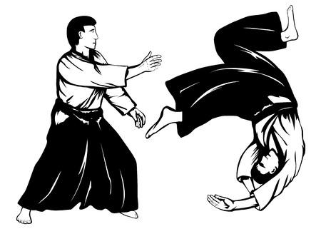 図 2 aikidokas、スローを行う