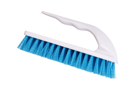 scour: Brush for cleaning and clothes clearing isolated on white background