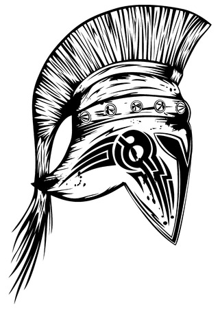legionary: Vector illustration old legionary helmet Illustration