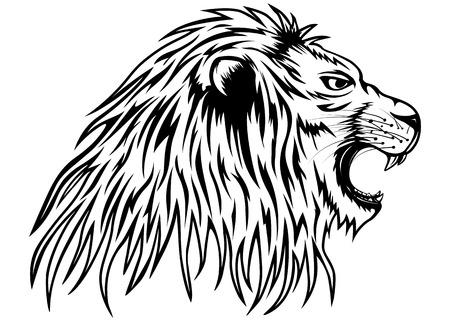Vector illustration lion grondant Banque d'images - 34608094
