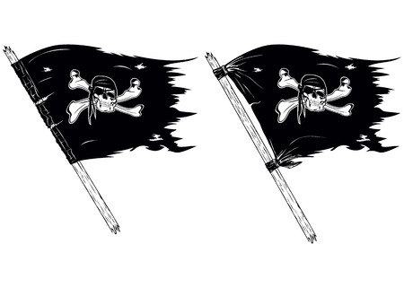 swashbuckler: Abstract vector illustration pirate flags