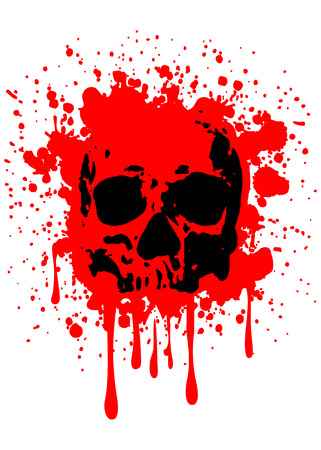 Abstract vector illustration grunge skull Imagens - 35282893