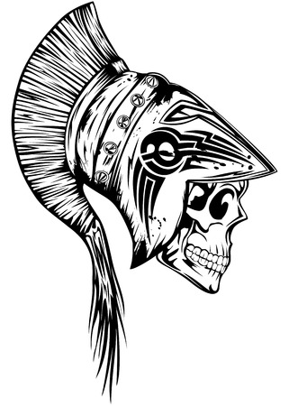 legionary: Vector illustration skull in legionary helmet
