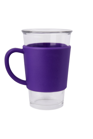 vaso vacio: Vaciar de vidrio aislado sobre fondo blanco