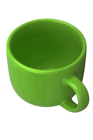 tankard: Mug for tea or coffee isolated on white background Stock Photo