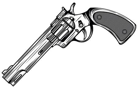 revolver: Abstract vector illustration revolver