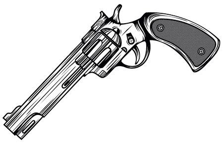 Abstract vector illustration revolver