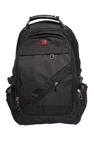 New big black rucksack isolated on white background