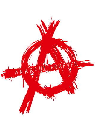 anarchism: Vector illustration grunge symbol anarchy for t-shirt design or tattoo