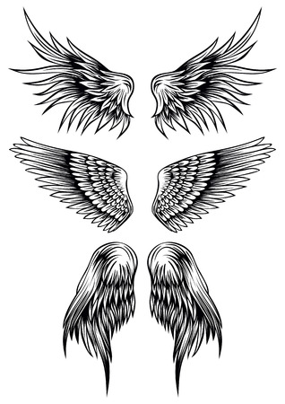 tatouage ange: ailes illustration abstraite mis